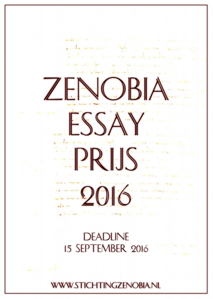 Zenobia essay prijs